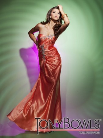 STYLE 112531 AVAILABLE IN ORANGE AND FUCHSIA CHARMEUSE