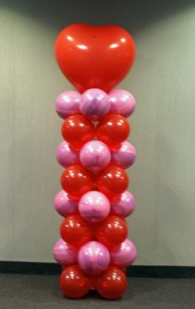 Balloon Heart Column