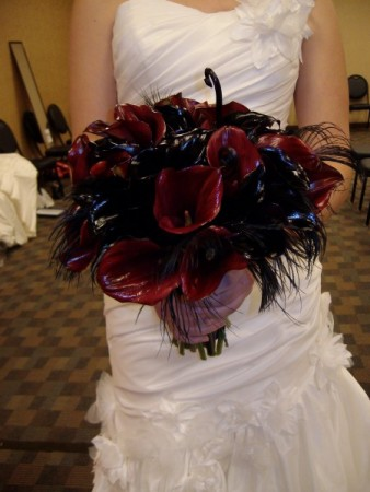 Deep Red Wedding Bouquet