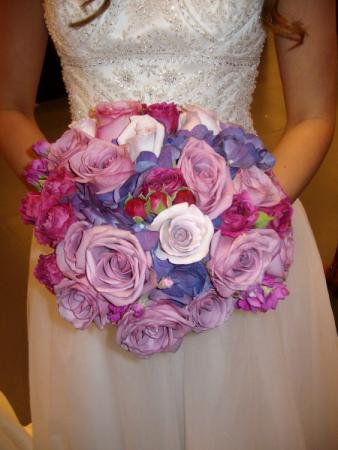Purple & Pink Wedding Bouquet