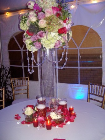 Gorgeous Tall Reception Centerpiece