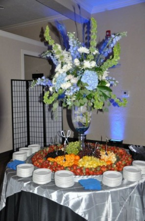Blue Reception Centerpiece