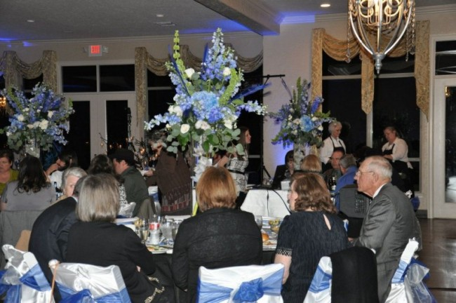 Beautiful Tall Blue Centerpiece