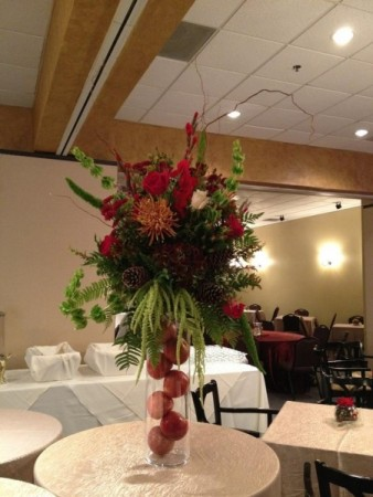 Red Reception centerpiece