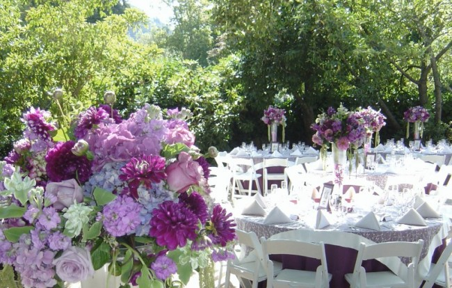 purple reception features amazing purple wedding reception centerpieces