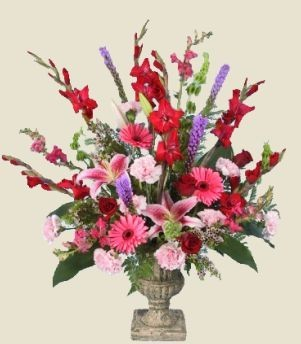 Mix Bold Florals In Urn