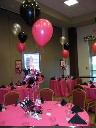 Shaw Center Pink Party Centerpiece