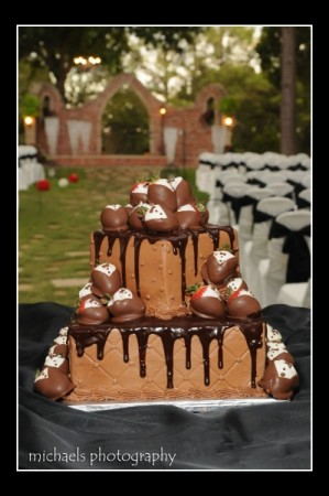 Delicious Choclate and Strawberry Groom's Cake
