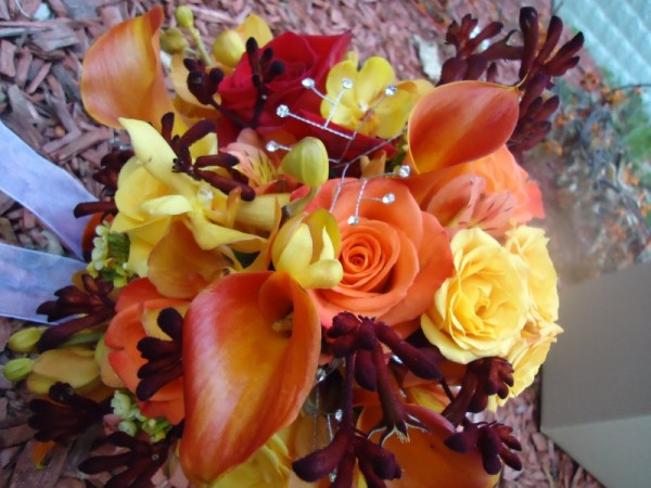 Beautiful Orange & Yellow Wedding Bouquet