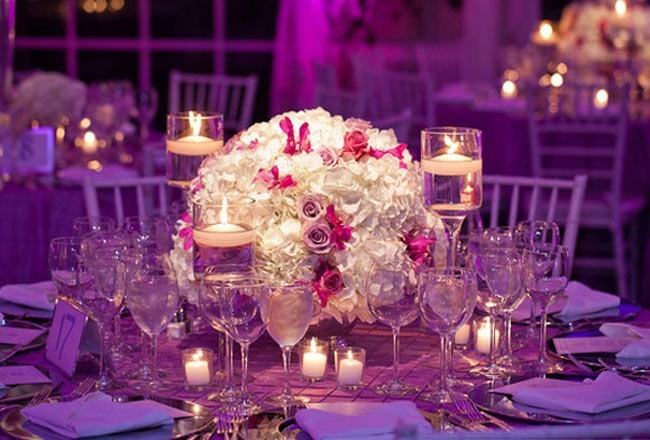 Photo Gallery - Photo Of Gorgeous White Reception Centerpieces