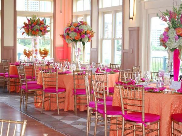 Fuschia And Orange Wedding Invitations: Photo Of Orange & PInk Reception