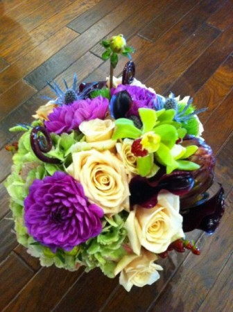 Lime Green & Purple Bridal Bouquet