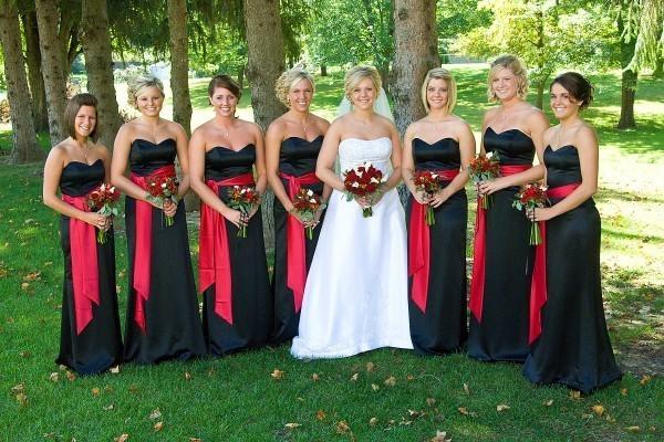 Black wedding bridesmaid dresses