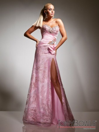 Pink Prom Dress with Slit