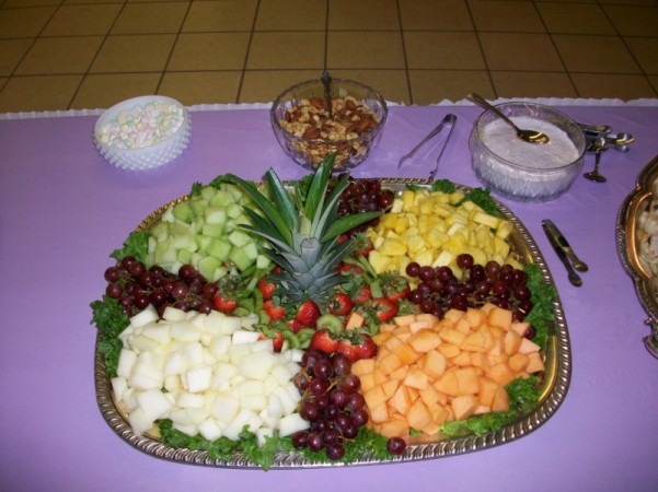 wedding shower fruit tray ideas