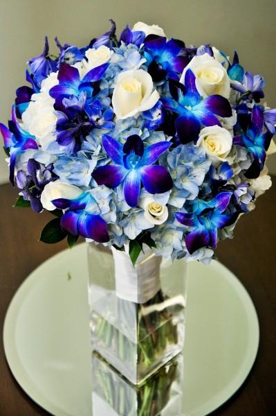 Photo Gallery Photo of Blue White Wedding Bouquet