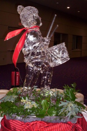 Little Drummer Boy Holiday Ice Sculpture-Carving