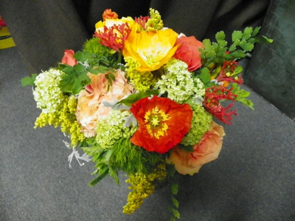 Tangerine and Lime Wedding Bouquet