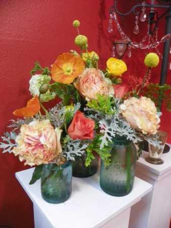 Tangerine and Lime Centerpiece