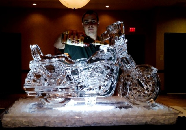 Harley Motorcycle Drink Luge Ice Sculpture