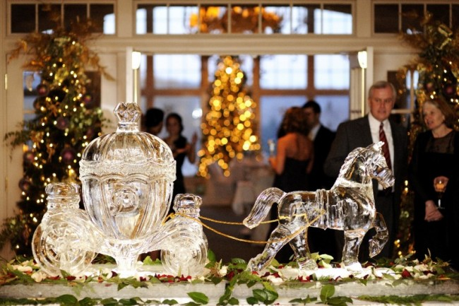 Stunning Cinderella's Horse and Carriage Ice Sculpture