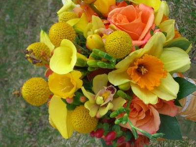Spring Time Color Wedding Bouquet