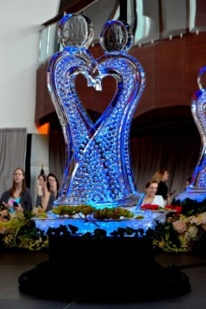 Beautiful and Unique Abstract Wedding Art Ice Sculpture