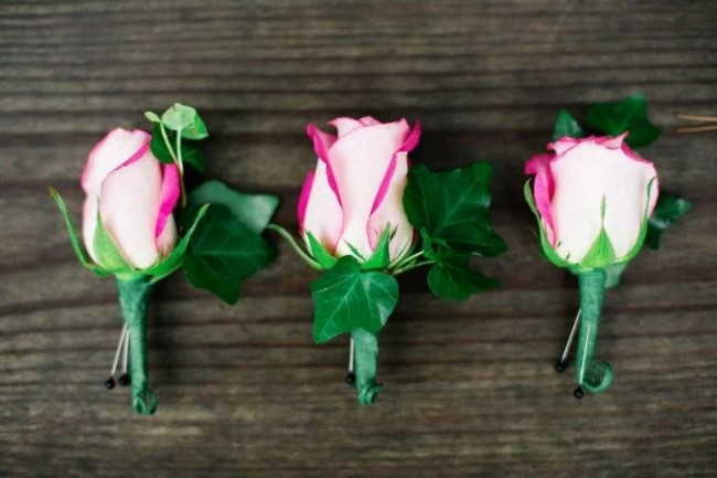 Hot Pink Boutonnieres