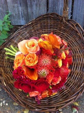 Orange & Yellow Wedding Bouquet