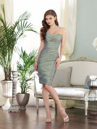 taffeta knee-length sheath