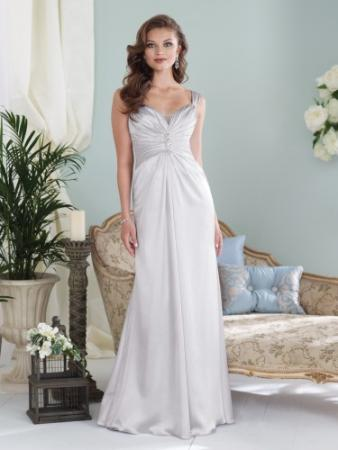 Sleeveless crepe back satin