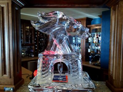 Broncos Football Theme Champagne Luge