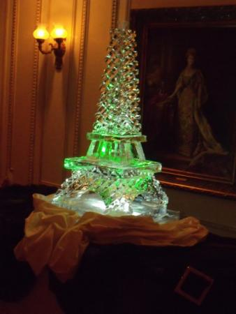 Eiffel Tower Ice Sculpture for event