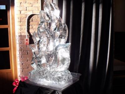 Fire Flames Ice Sculpture