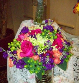 Bright & Colorful Wedding Bouquet