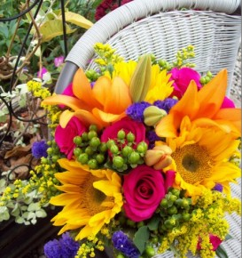 Colorful Mixed Bridal Bouquet