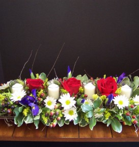 Mixed Floral Reception Centerpiece