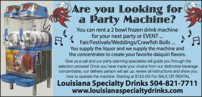 Festivals, Fairs, Weddings, Crawfish Boils...