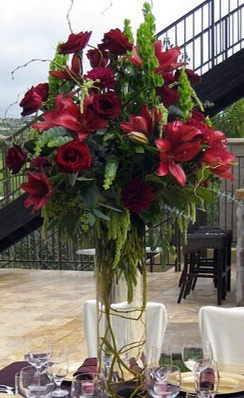 Beautiful Red Centerpiece