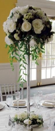 White Rose Reception Centerpiece