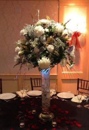Beautiful Tall Reception Centerpiece