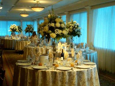 Beautiful Reception with White Centerpieces