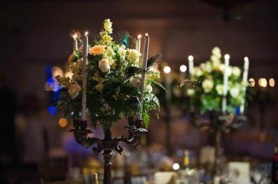 Candle Reception Centerpieces
