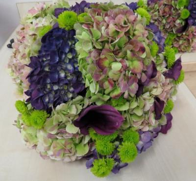 Stunning Purple & Green Wedding Bouquet