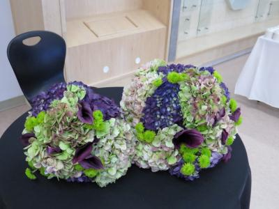 Green & Purple Wedding Bouquets