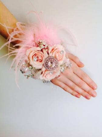 Pink and Fluffy Corsage