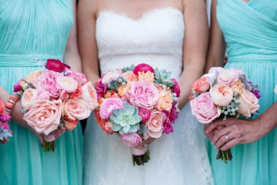 Lovely Palm Beach Colors Wedding