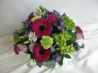 Gorgeous Greens And Gerberas