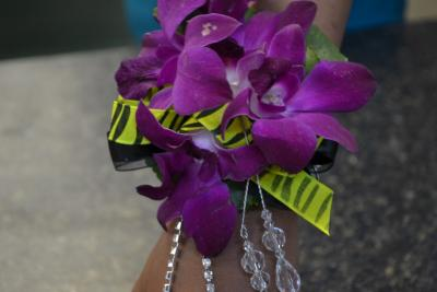 Yellow And Purple Corsage