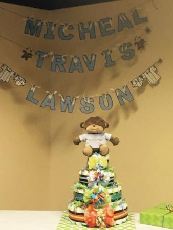 Baby Shower Diaper Tower